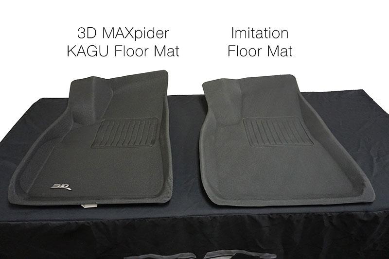 3D® KAGU Floor Mats vs Imitation Floor Mats