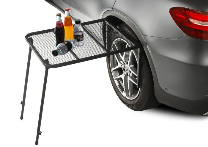 3D® 隨走隨露套組【輕量型二用車邊遮陽棚+輪胎便利桌架】
